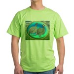 Guineas On Opal Green T-Shirt