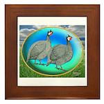Guineas On Opal Framed Tile