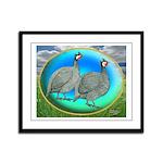 Guineas On Opal Framed Panel Print