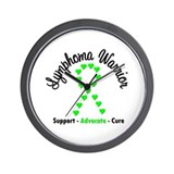 Lymphoma Warrior Wall Clock