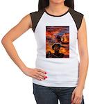 Conscious Rasta Lion Women's Cap Sleeve T-Shirt