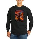Conscious Rasta Lion Long Sleeve Dark T-Shirt