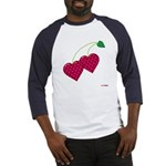 Valentine's Day Cherries Baseball Jersey