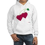 Valentine's Day Cherries Hooded Sweatshirt