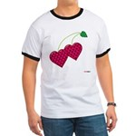 Valentine's Day Cherries Ringer T
