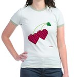 Valentine's Day Cherries Jr. Ringer T-Shirt