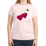 Valentine's Day Cherries Women's Light T-Shirt