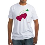 Valentine's Day Cherries Fitted T-Shirt