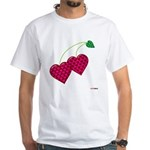 Valentine's Day Cherries White T-Shirt