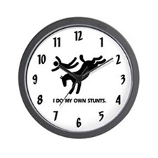 Horse I Do My Own Stunts Wall Clock