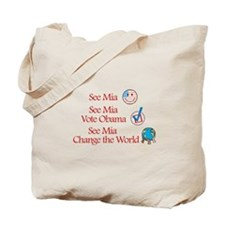 See Mia Vote Obama Tote Bag