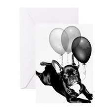 Happy Birthday French bulldog Greeting Cards (Pk o