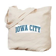 Iowa City (blue) Tote Bag
