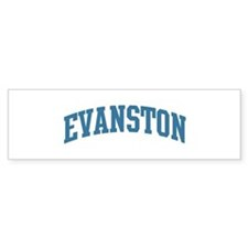 Evanston (blue) Bumper Sticker (10 pk)