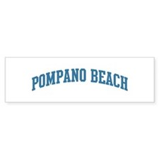 Pompano Beach (blue) Bumper Sticker (50 pk)