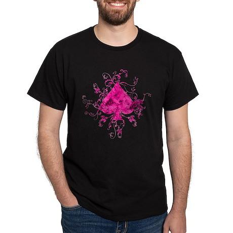 Pink Spade Dark T-Shirt
