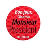 "Bon jour, Obama. Monsieur President 3.5"" Butt"