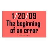 1/20/09 Beginning of an Error Rectangle Decal