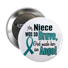 "Angel 1 TEAL (Niece) 2.25"" Button (10 pack)"