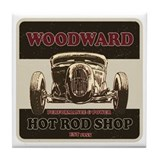 Woodward Hot Rod Shop Tile Coaster