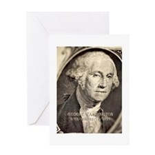 George Washington Greeting Card