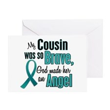 Angel 1 TEAL (Cousin) Greeting Card