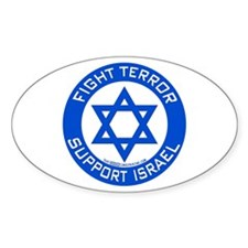 I Support Israel Oval Sticker (50 pk)