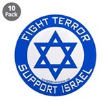I Support Israel 3.5&amp;quot; Button (10 pack)