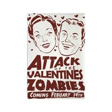 Valentines Zombies Rectangle Magnet (100 pack)