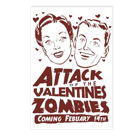 Valentines Zombies Postcards (Package of 8)
