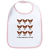Corgi Expressions Bib
