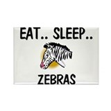 Eat ... Sleep ... ZEBRAS Rectangle Magnet (10 pack