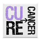 Cure (General) Cancer Tile Coaster