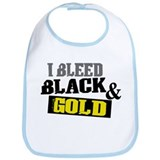 Bleed Black and Gold Bib