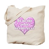 My Heart Is On Deployment Tote Bag