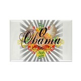 Obama Peace and Love Design Rectangle Magnet