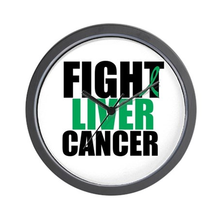 Fight Liver Cancer Wall Clock