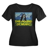 The HOUND of Music Women's Plus Size Scoop Neck Da