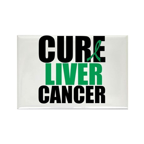 Cure Liver Cancer Rectangle Magnet