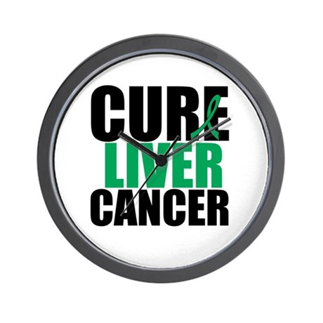 Cure Liver Cancer Wall Clock