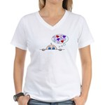 BABY LOVE Women's V-Neck T-Shirt