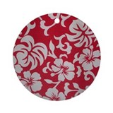 Tropical red Ornament (Round)