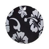 Tropical black Ornament (Round)