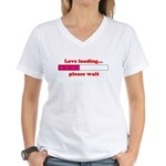LOVE LOADING...PLEASE WAIT Women's V-Neck T-Shirt