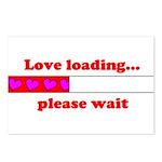 LOVE LOADING...PLEASE WAIT Postcards (Package of 8