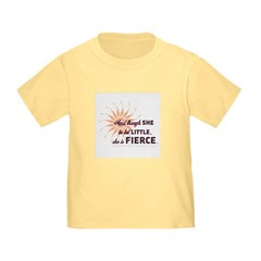 She is Fierce - Grunge Toddler T-Shirt