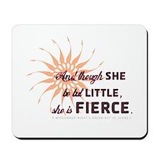 She is Fierce - Grunge Mousepad