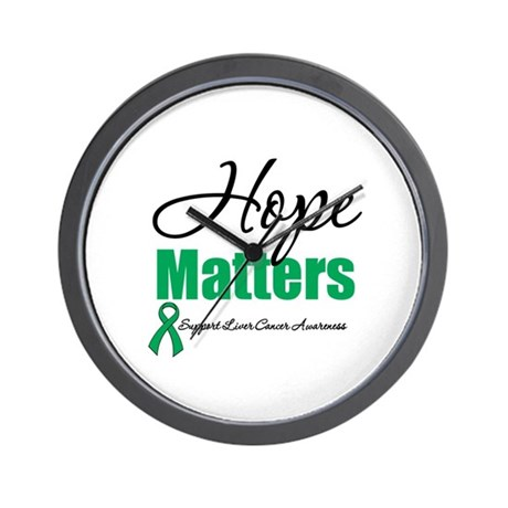 Hope Matters Liver Cancer Wall Clock
