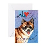 Icelandic Sheepdog Greeting Card