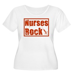 Nurses Rock Women's Plus Size Scoop Neck T-Shirt